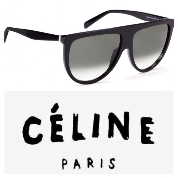 5ce1d8f45d5cd New Celine Thin Shadow Sunglasses In Black CL41435